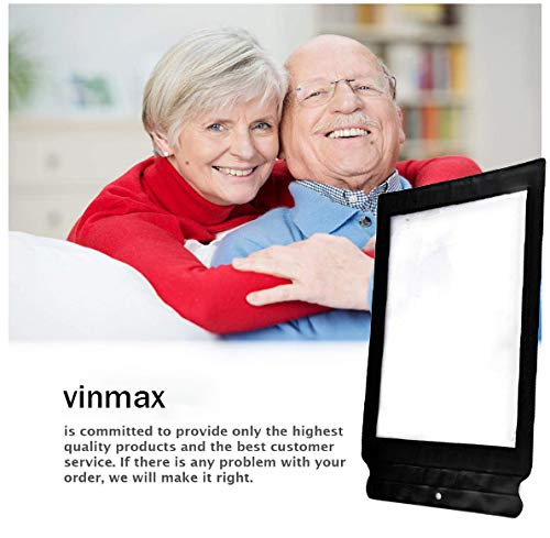 Sheet Magnifier,Vinmax 3X A4 Full Page Large Sheet Magnifier Magnifying Glass Reading Aid Lens Fresnel-the Best Gift for the Seniors with Poor Eyesight