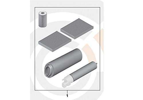 BMW Genuine Microfilter+Oil+Air+Fuel Filter Service Kit E60 E61 88002349206