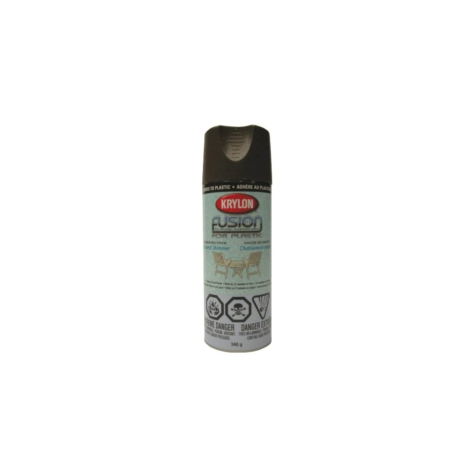 Krylon K02523000 Fusion For Plastic Textured Shimmer Aerosol Spray Paint, 12 Ounce, Forest Green