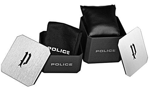 Polis herr kronograf kvartsklocka med läderrem PL.15307JSB/07