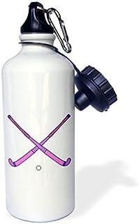 Filles pour femme Bâtons de hockey sur gazon Croix Rose Violet Sports Design Sports Bouteille d'eau en acier inoxydable Bouteille d'eau pour femme homme enfants 400ml