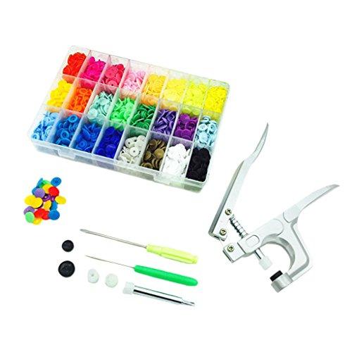 Dovewill 360 Juegos Snap Botónes de Plástico Colorido T5 con Snaps Alicates para Proyectos de DIY Ropa de Niños...