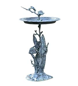SPI Home 33304 Turtle and Fish Sundial/Birdbath