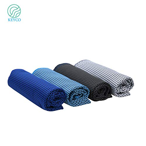 Cooling Pva Towel - KEYCO Cooling Towels - The Original PVA Cooling Towel Pouch Design - 4 Packs