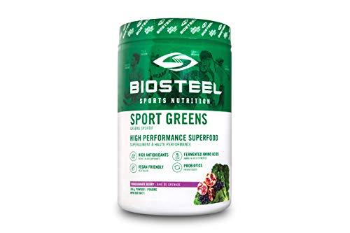 (BioSteel Sport Greens Vegan Superfood Powder, Stevia Sweetened, High Antioxidants, Pomegranate Berry, 306 Gram)