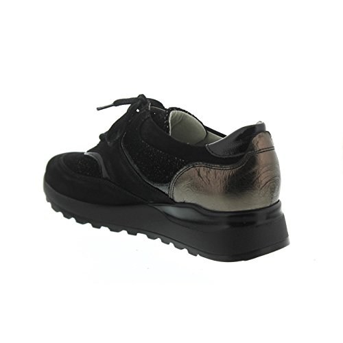 pour de femme Chaussures Hiroko lacets Schwarz ville Stahl à Waldläufer OqwUTxnAYn