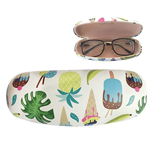Eyeglasses Hard Case Portable Case Ice Cream Pineapple Cupcake Cute Clamshell Protective Holder
