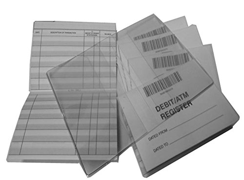 Debit Registers ATM Mini Checkbook Registers with Balance Column - Set of 10 & 1 Free Cover