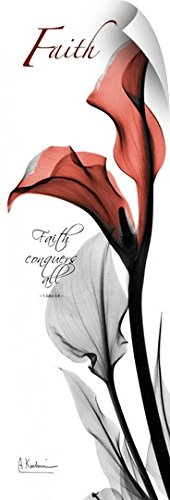 Albert Koetsier Wall Peel Wall Art Print entitled Calla Lily faith x-ray photography 30''x90'' by Canvas on Demand