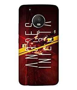ColorKing Football Iniesta Spain 02 Red shell case cover for Motorola Moto G5 Plus