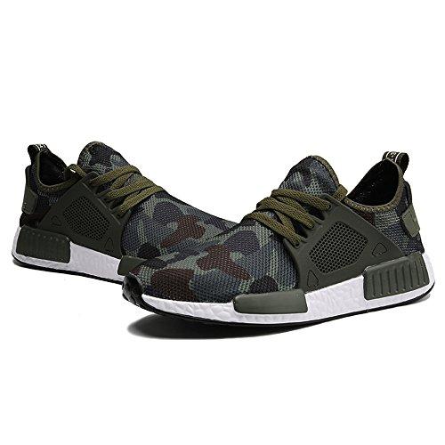 Scarpe Scarpe XIANV Estate Casual Scarpe Uomo Sneaker Camouflage Primavera Army Men Hombre Casual Moda Sneaker Uomo Scarpe Green Verde 88fw4q