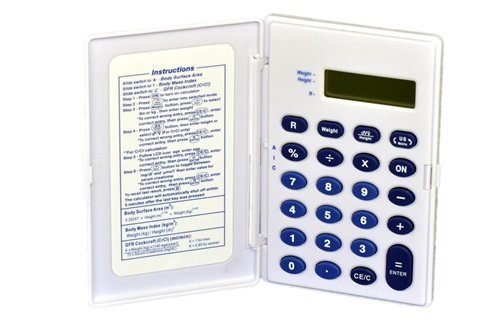 Medical Calculator Multi-function BMI (Body Mass Index), CrCL (Createnine  Clearance), BSA (Body Surface Area)