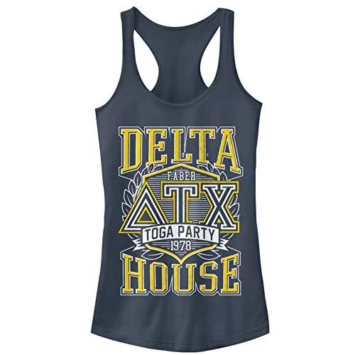 (Animal House Juniors' Delta Toga Party Indigo Racerback Tank)