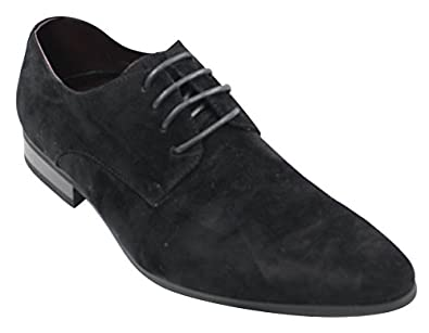 mens laced smart casual suede shoes green black grey