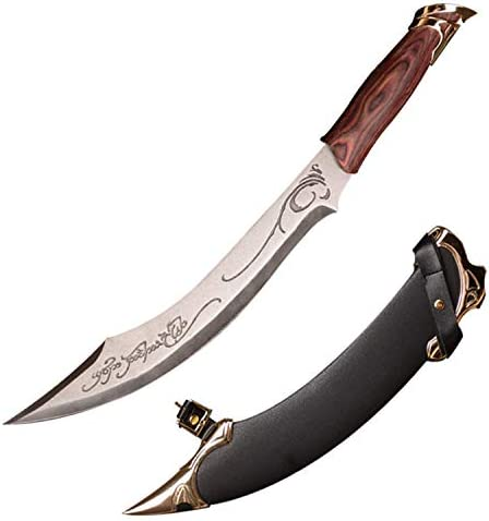 Sword Fort Handmade Anime Cosplay Sword, Buster Swords, Hand Forged, Sharp Knives, The Elven Sword In The Hobbit Movie,Stainless Steel Blade,Waist Knife