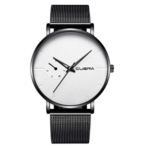 SIN vimklo Men Military Sport Date Analog Quartz Stainless Steel Bracelet Wrist Watch