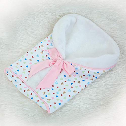 Amazon.com: Fenteer Heart Printed Plush Sleeping Bag Baby Blanket for 9-16