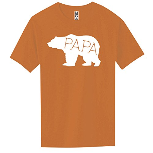 Papa Bear Adult Pigment Dyed Ringspun Short Sleeve In Yam   Large