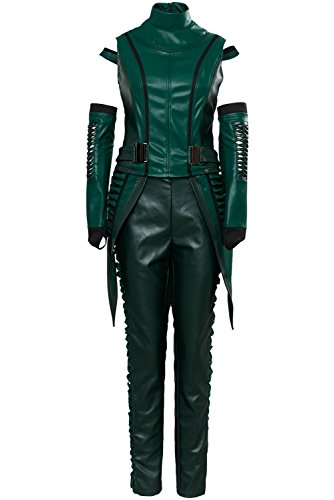 CHECKIN Halloween Womens Mantis Cosplay Costume PU Jacket Full Set Suit