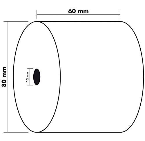 Exacompta 40970E - Bobina 1 pliegue té rmico para caja, 10 unidades, 60 x 80 mm