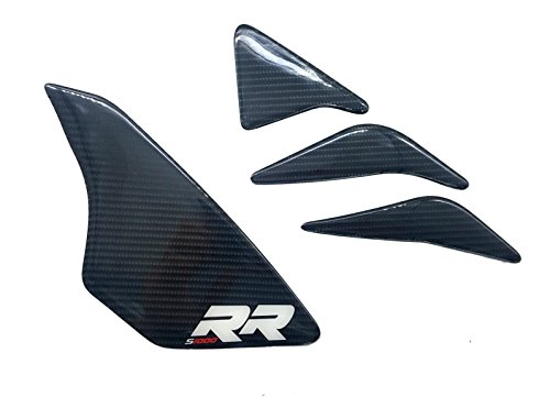 Real Carbon Fiber Decal side Protector Tank Grip Pad For BMW S1000RR 2009-2017