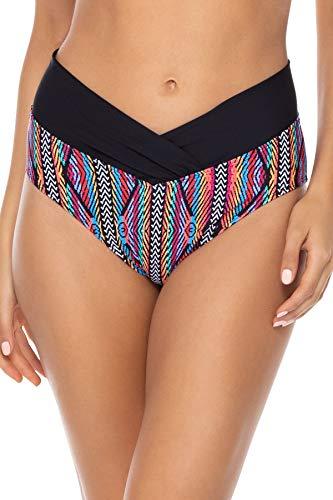 Sunsets Women's Summer Lovin V-Front Bikini Bottom Swimsuit, Playa Stripe, Medium