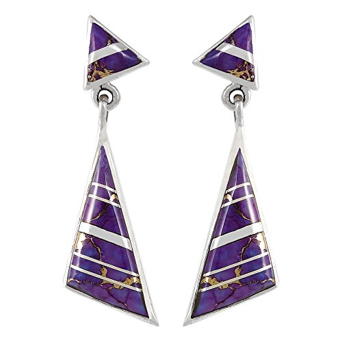 cheap Purple Turquoise Earrings Sterling Silver 925 (Select Style)