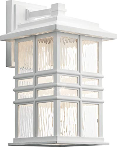 - Kichler 49830WH Beacon Square Outdoor Wall Sconce, 1-Light 100 Watts, White