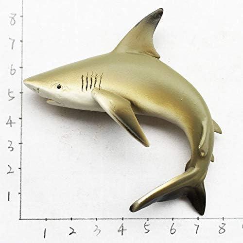 zhenxin Imán de refrigerador  tiburón imán de Nevera  3D niños como Peces Marinos decoración Pegatina magnética 5