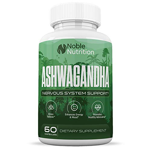 Organic Ashwagandha Herbal Supplement – Supports Memory, Attention and Information Processing – Formulated for Stress and Anxiety – Enhances Energy and Physical & Mental Well-Being – 60 Capsules
