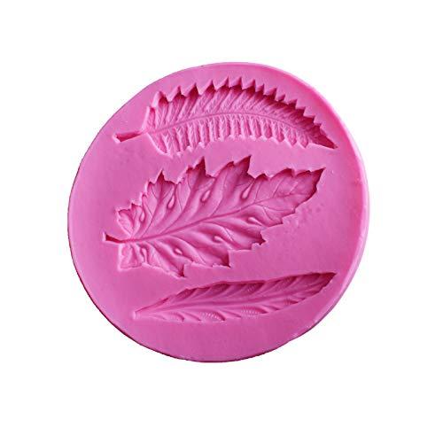 Doitsa 1pcs Moule /à Fondant en Silicone Forme de Feuilles Bricolage Moule de Cuisson pour Fabrication de Dessert Biscuits G/âteau Candy Chocolate 9.3 * 0.9CM