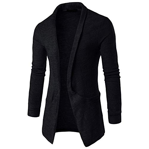 New Men/'s Fashion Knitted Cardigan Jacket Slim Long Sleeve Casual Sweater Coat