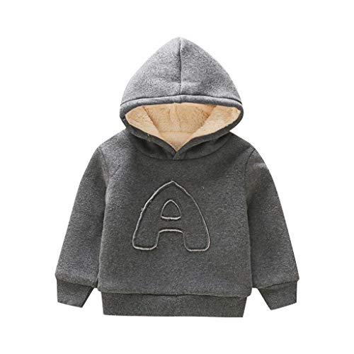 (Qpika Fashion Toddler Kids Baby Boys Hooded Sweatshirts Infant Letter Blouse Hoodies)
