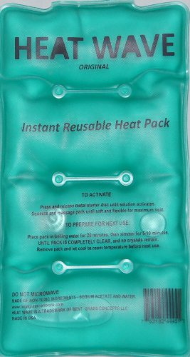 HEAT WAVE Instant Reusable Heat Pack - Medium (5 x 9 inch size) - Premium Quality - Medical Grade - made in USA (not China)