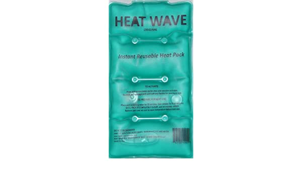 HEAT WAVE Instant Reusable Heat Pack - Medium (5 x 9 inch size) - Premium Quality - Medical Grade - made in USA (not China) by Heatwave: Amazon.es: Salud y ...