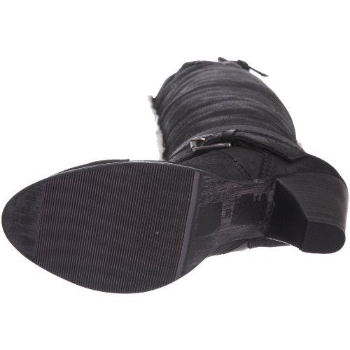 Dune - Botas de cuero para mujer Negro