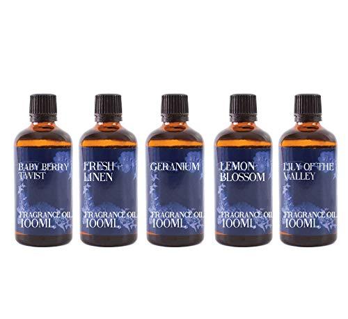 Mystic Moments   Fragrant Oil Starter Pack - Spring Oils - 5 x 100ml