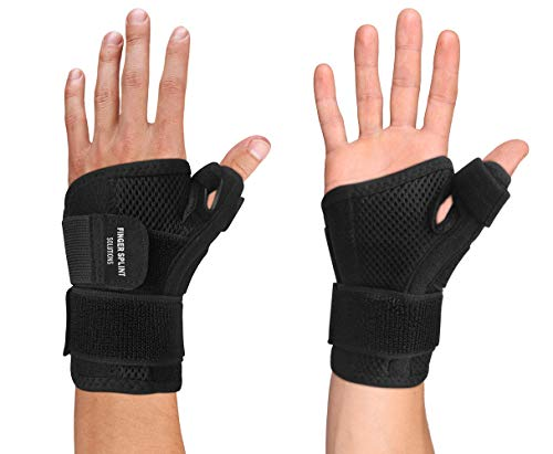 (Thumb Brace - Thumb Spica Splint for Arthritis, Tendonitis and More. Fits Both Right Hand and Left Hand for Men and Women. Wrist, Hand, and Thumb Stabilizer Immobilizer. Trigger Thumbs Support Braces )