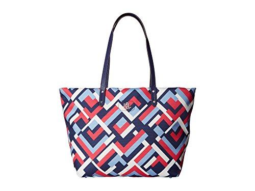 LAUREN Ralph Lauren Women's Bainbridge Tote Marine Multi Geo Handbag by Lauren by Ralph Lauren