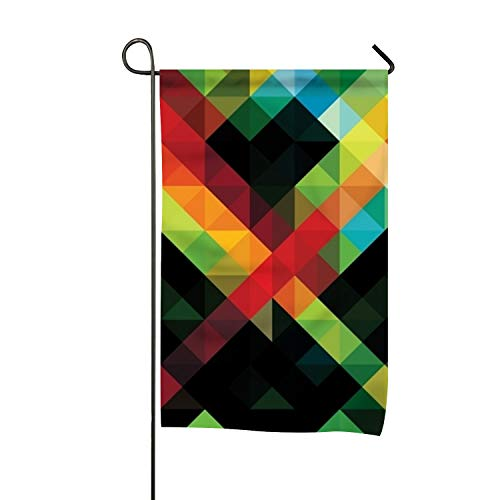 Starfactr Flag, Geometric Wallpaper HD 20 Design, Campsite Flag, Motorhome Decor, Trailer Camping Flag, Garden Yard Decorations, Camp Host Flag, Outdoor Flag 12 x 18