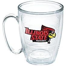 Tervis 1059152 Illinois State University Emblem Individual Mug, 16 oz, Clear