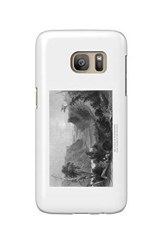 New York - View of the Niagara River Outlet, Lake Ontario in Distance (Galaxy S7 Cell Phone Case, Slim Barely - Outlet Niagara