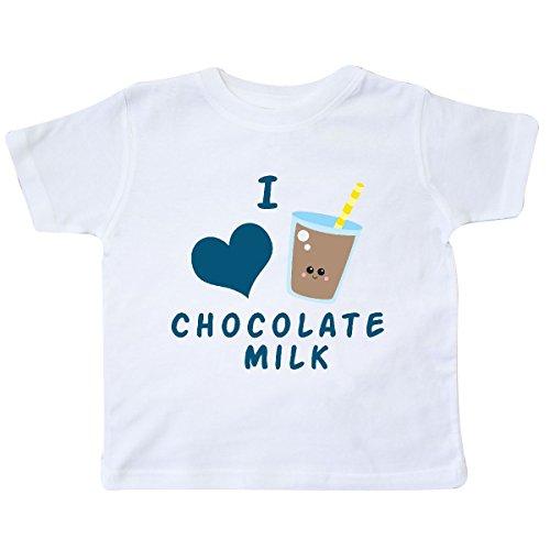 Baby Glass Milk Top (inktastic - I Love Chocolate Milk Toddler T-Shirt 4T White)