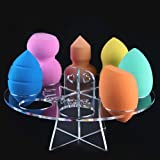 Gotd 8 Hole Oval Puff Holder Drying Rack Organizer Cosmetic Shelf...