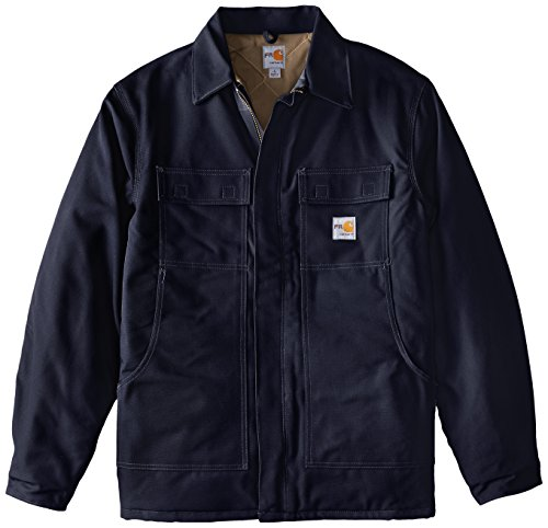 Carhartt Men's Big-Tall Flame Resistant Duck Traditional Coat, Dark Navy, X-Large/Tall by Carhartt