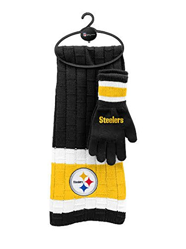 NFL Pittsburgh Steelers Scarf & Glove Gift Set