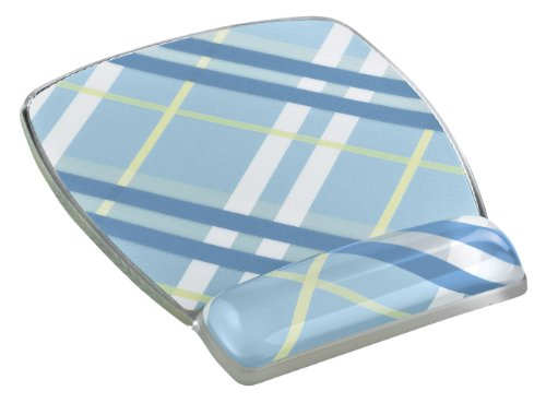 3M Precise Mouse Pad with Gel Wrist Rest, Soothing Gel Comfort with Durable, Easy to Clean Cover, Optical Mouse Performance, Fun Plaid Design (MW308-PL) -  MW308PL