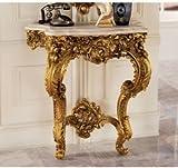 "35"" French Rococo Antique Replica Luxury Table"