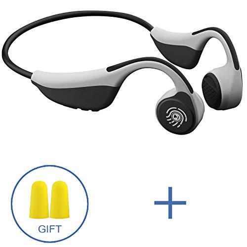 DOTSOG Bone Conduction Headphones, Bluetooth 5.0 Wireless HiFi Stereo Open Ear Headset Lightweight Sweatproof Sports Headphones for Running Driving Cycling