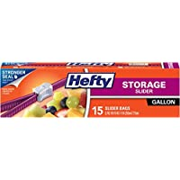 Hefty Slider Storage Bags, Gallon Size, 15 Count (9 Pack), 135 Total